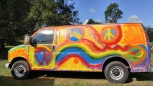 new paint job on hippie van