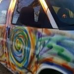 It's Repaint The Hippie Van Day 2