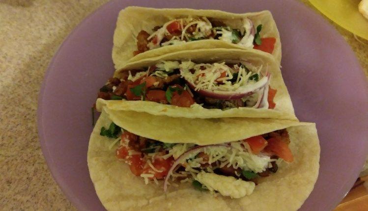 Pork Carnitas Tacos finished plate