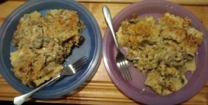Mushroom Ravioli finished plates