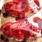 Meatloaf with sauce before cooking