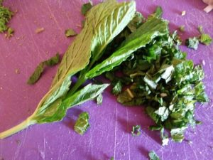 Chopped mint leaves