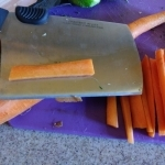 Sliced carrot fries