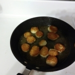 Nicely browned scallops