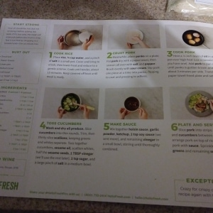 Japanese Style Hoisin Panko Pork Cutlets with Sesame Cucumber Salad and Jasmine Rice 4