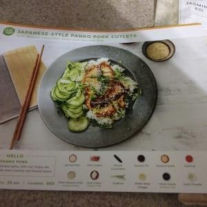 Japanese Style Hoisin Panko Pork Cutlets with Sesame Cucumber Salad and Jasmine Rice 3