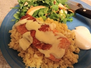 Turkish Dijon Salmon Over Couscous meal kit