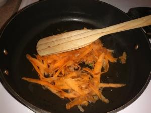 Tender slivers of carrots