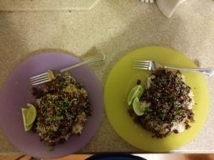 Sesame Sriracha Beef Stir Fry meal time