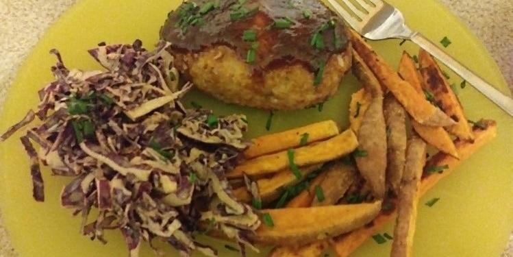 Barbecue Pork Meatloaf plate