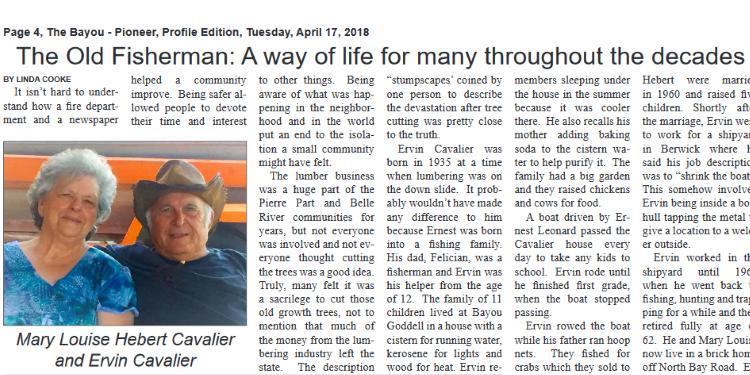 Ervin Cavalier article