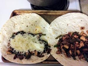 layer ingredients in tortilla