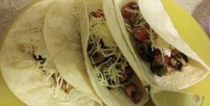 Chicken tomatillo tacos