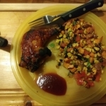 Hot Honey Barbecue Chicken finished plate