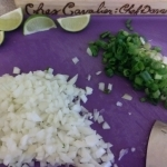 Chopped onions and scallions
