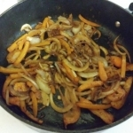 Sauteed onions and peppers