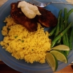 Tex-Mex Tilapia finished plate
