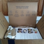 First look at the inside of the Blue Apron box