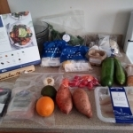 The Blue Apron Meal Kit ingredients