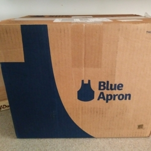 Blue Apron Unboxing meal kit