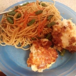 Chow Mein Cod Cakes meal kit