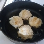 Fry the cod cakes
