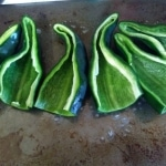 Sliced poblano peppers