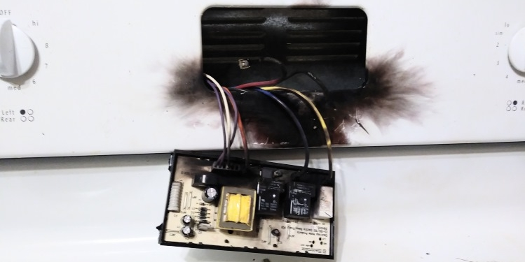 Oven digital panel exploded