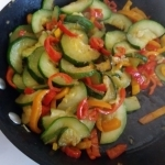 Zucchini pepper mix