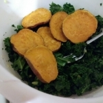 Sweet potato kale mixture