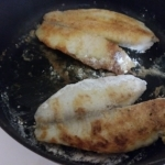 Cooking the tilapia