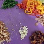 Chipped veggies