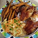 BBQ Glazed Chicken Wing finished plate
