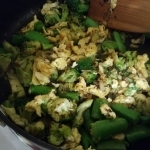 Cooked broccoli mix