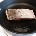 Salmon in pan