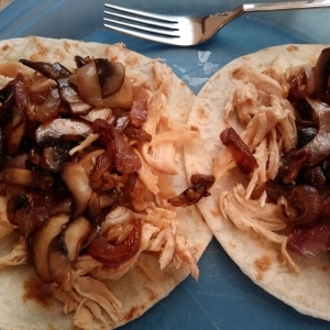 Vegetables added to tortillas