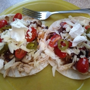 Chipotle-Lime Chicken Fajitas meal