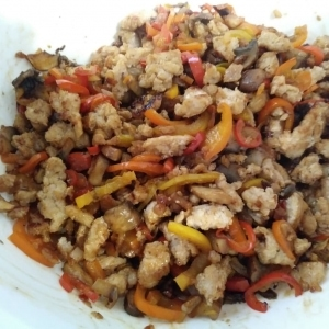 Chicken and veggies mixture