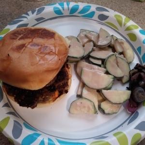 Za'atar Harissa Burgers meal