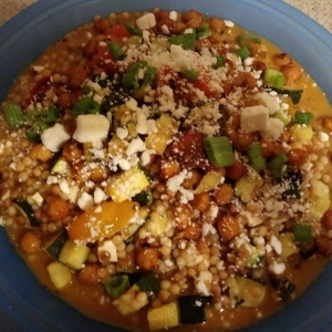 Chickpea Mediterranean Couscous meal