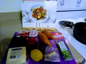 Grilled Cheese and Veggie Jumble ingredients