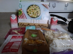 Cauliflower Pancetta Mac N Cheese ingredients