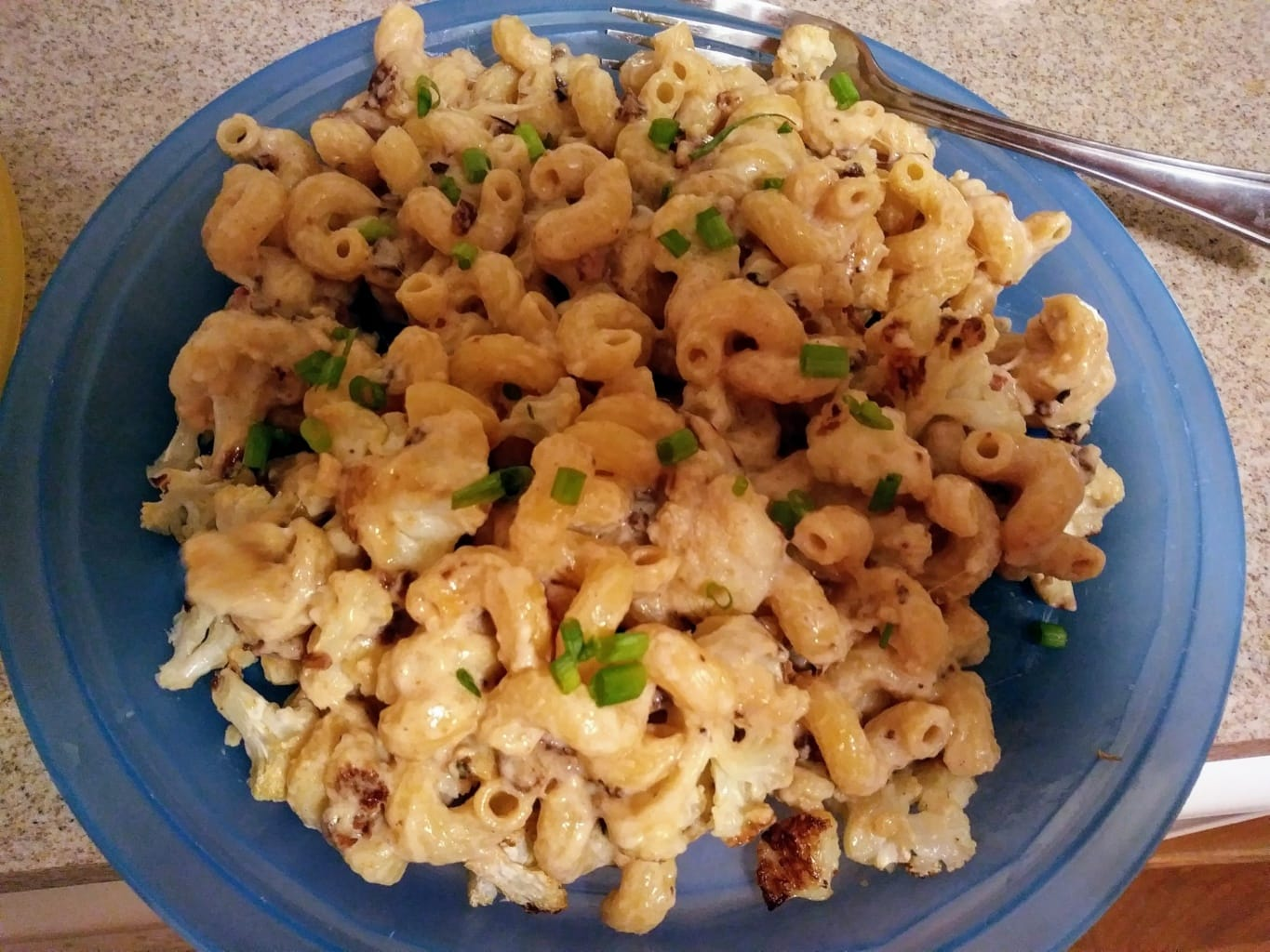 Cauliflower Pancetta Mac N Cheese dish
