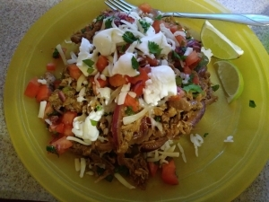 Pulled Pork Fiesta Bowl meal