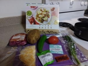 Beef Taco Loaded Potatoes ingredients