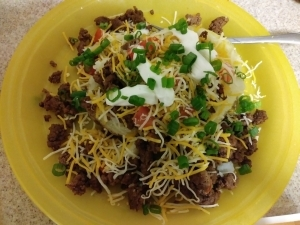 Beef Taco Loaded Potato meal
