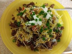 Beef Taco Loaded Potato meal
