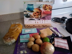 Gouda Pork Burgers ingredients