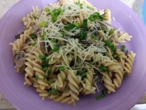 Creamy Mushroom Fusilli meal