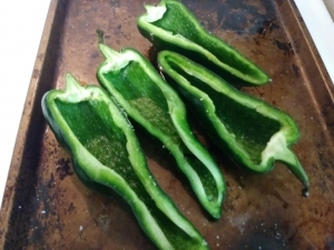Poblanos ready to roast